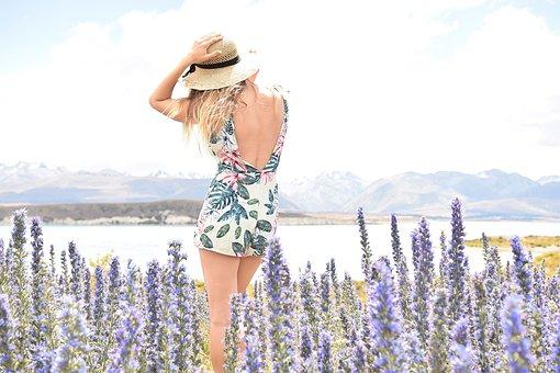 Travel, Women, Flowers, View, Girl, Female, Lifestyle