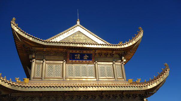 The Golden Dome, Emeishan, Views, Construction, Roof