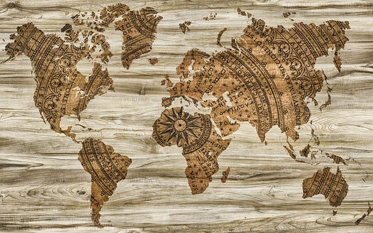 Map, Paper, Wood, Information, Background, Creativity