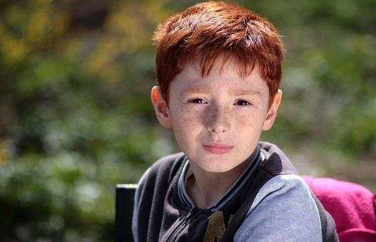 Boy, Red Hair, Freckles, Portrait, Beauty