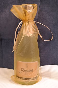 Champagne, Gift, Loop, Packed, Golden, Freixenet