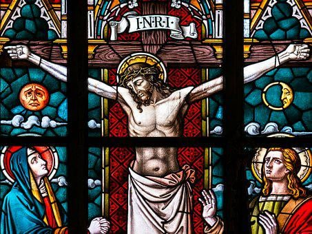 Good Friday, Crucifixion, Church Window, Stained Glass