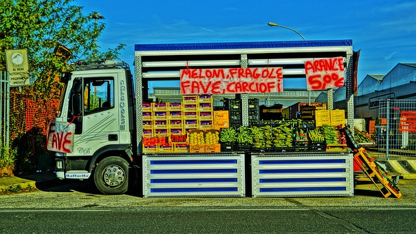 Fruit, Vegetables, Pick-up, Colors, Sale