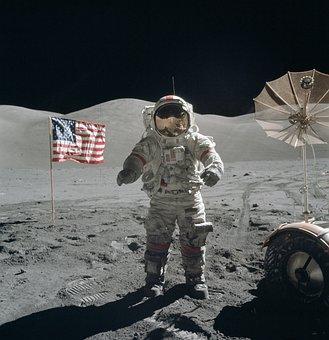 Moon Walk, Astronaut, Astronaut Suit, Moon Landing