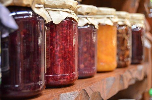 Jam, Preparations, Jars, Fruit, Natural Food, Eating