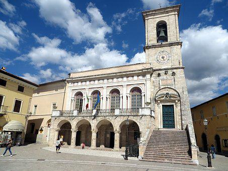 Norcia, City Hall, Pre-earthquake, Umbria, Italy