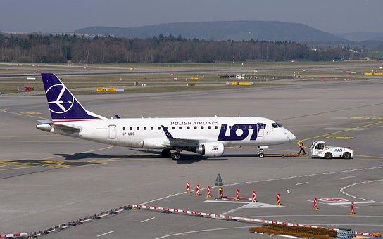 Aircraft, Lot, Embraer 170, Embraer, Jet