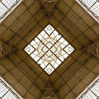 Steel, Glass, Roof, Architecture, Window, Construction