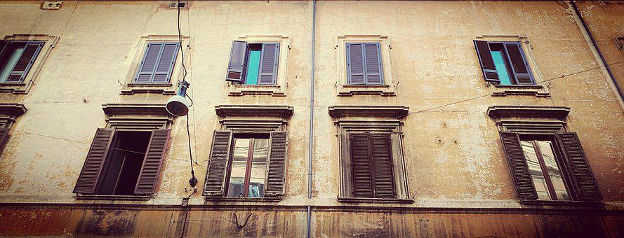 Street, Rome, Building