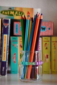 Pencils, Children, Pastels, Childhood, Colors, Map