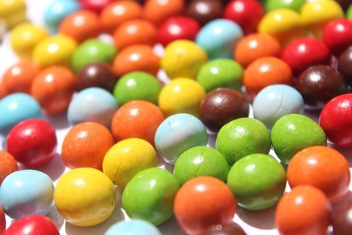 Candy, Nuts, Chocolate, Marble, Green, Blue, Colorful