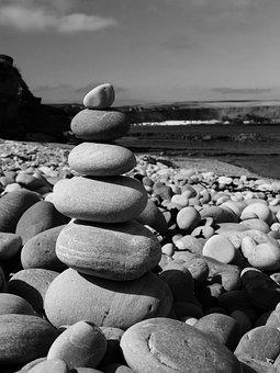 Pebbles, Beach, Sea, Coast, Rocks, Zen