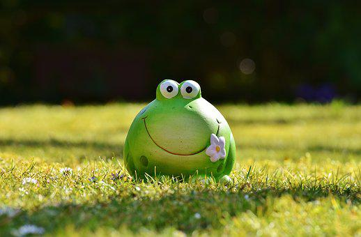Frog, Figure, Meadow, Funny, Cute, Decoration, Green