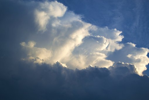 Sky, Clouds, Blue, Day, Heaven, Cloudscape, Outdoors