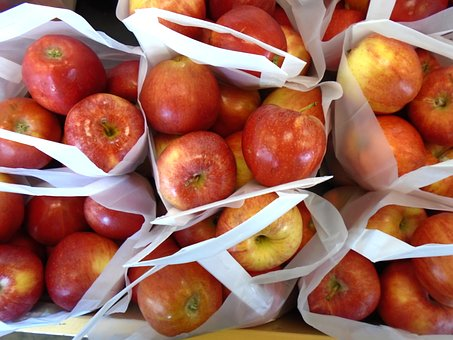 Apples, Fruit, Red, Ripe, Tasty, Food, Fresh, Delicious