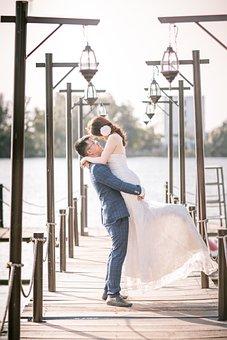 Couple, Model, Wedding, Love, Man, Woman, Dress, Bride
