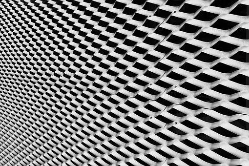 Expanded Metal, Facade, Background, Wall, Structure