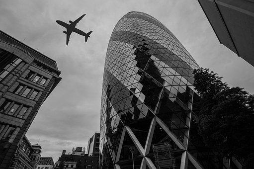 London, Gurkin, Skyscraper, Landmark, Uk