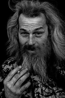 Homeless, Smoker, Smoking, Cigarette, Man, Poverty