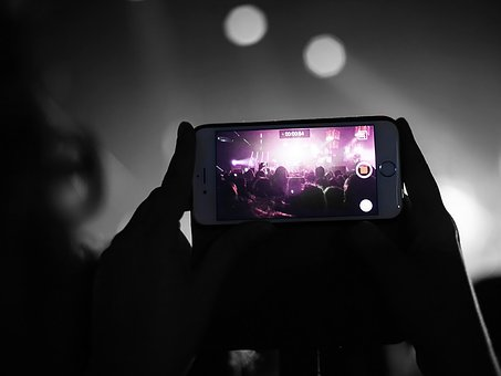 Smartphone, Iphone, Concert, Phone, Cellphone, Device