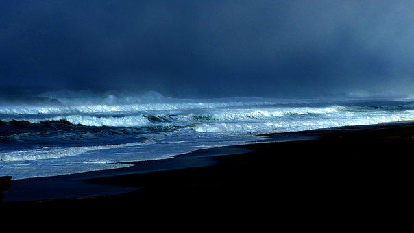 Ocean, Storm, Blue, Sea, Water, Pacific