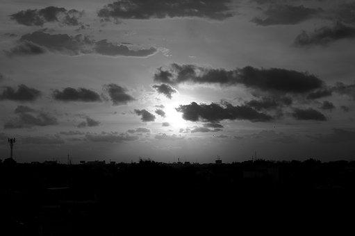 Orizonte, Sky, Clouds, Sunset, Sun