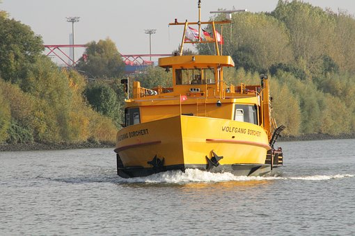 Hamburg, Port, Ferry, Water, Elbe, Ship, Passenger Ship
