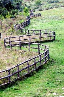 Pasture, Range, Fencing, Logs, Meadow