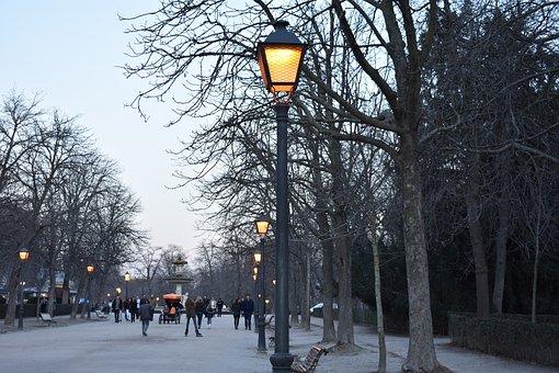 Madrid, Park, Lights, Europe, Outdoor, Urban, Retiro