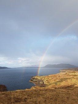 Rainbow, Field, Scotland
