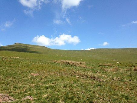 Spring, Mountain, Blue, Cloud, Landscape, Nature, Green