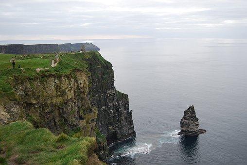 Cliffs, Sea, Ireland, Steinig, View, Rocky Coast