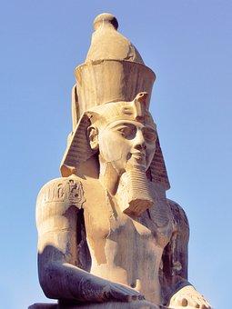 Egypt, Pharaoh, Ramses, Old, Monument, Stone, Sculpture