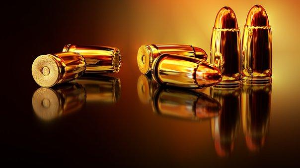 Cartridges, Weapon, War, Hand Gun, Ammunition, Metal