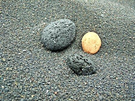 Sand, Pebble, Stones, Pebbles, Beach, Black, Grey