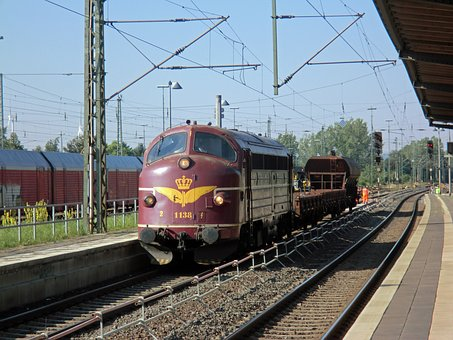 Diesel Locomotive, 1188, Construction Train, Railway