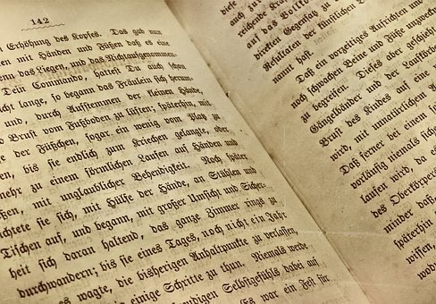 Book, Book Page, Old German, Font, Read, Old Book, Text