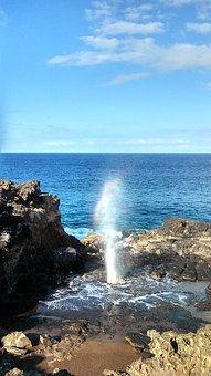 Hawaii, Maui, Blow Hole, Hole, Blow
