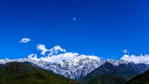 The Jade Dragon Snow Mountain, In Yunnan Province
