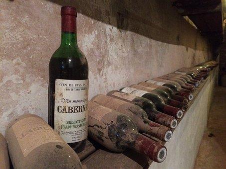 Wine, Cellar, Old, Winery, Vintage, Bottle, Dust, Label