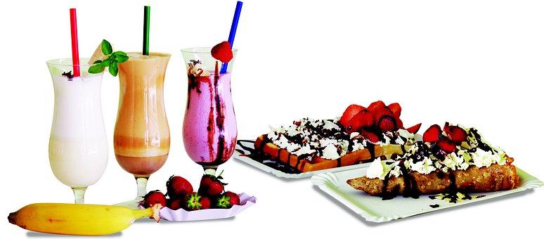 Frape, Beverage, Milk, Gofra, Pancake, Whipped Cream