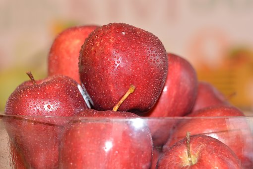 Apples, Fruit, Red, Many, Healthy, Fresh, Ripe