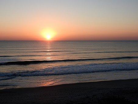Sunset, Florida, Beach, Travel, Sea, Sunrise, Sand, Sun