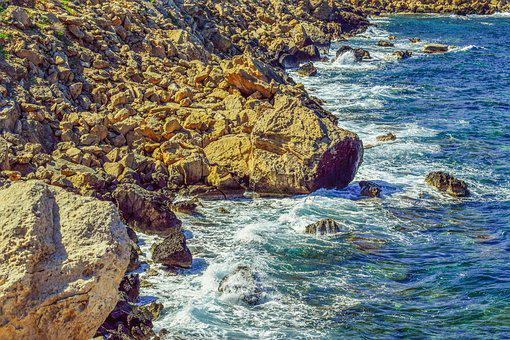 Rocky Coast, Sea, Waves, Nature, Coastline, Scenery