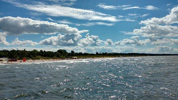 Beach, Sky, Sea, The Baltic Sea, Clouds, Landscape
