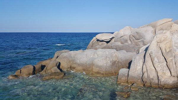 Sea, Rocks, Summer, Coast, Seascape, Stone, Landscape
