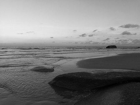 The Sea, Cloud, Water, Beach