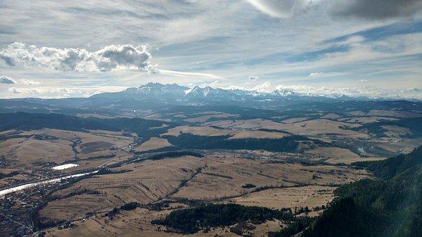 Mountains, Top, Sky, Landscape, Pieniny, Clouds