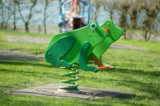 See Saw, Toys, Playground, Frog, Swing, Game Device