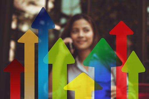 Arrows, Trend, Businesswoman, Woman, Economy, Business